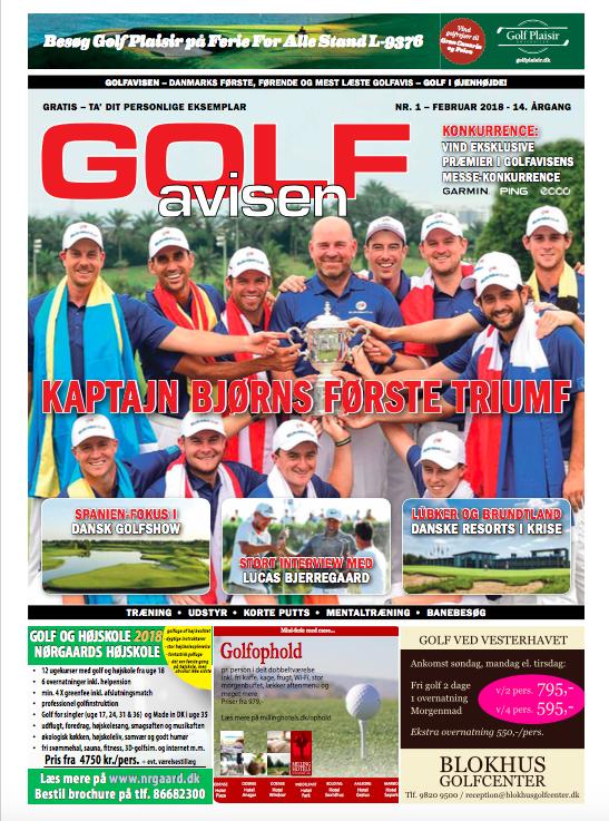 GolfAvisen Magazine - cover - February 2018